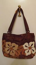 LUCKY BRAND BROWN SOFT LEATHER DIVIDED HOBO SHOULDER BAG EXCELLENT CONDITION