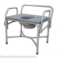 Medline Bariatric Drop-Arm Commode Up To 850LB  MDS89668XW