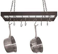 Kitchen Hanging Utensil Dish Pot Rack Square Holder Storage Organizer Pans +Hook