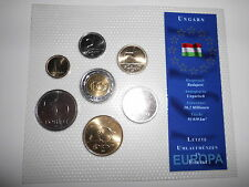 UNGARN   KMS (1995-2003)   1 Forint - 100 Forint  im Blister   [KMS-ALB3]