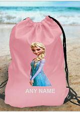 personalizzato bambine Frozen Elsa borsa da palestra per Nuoto PE