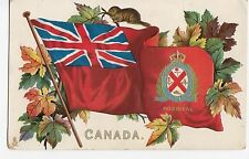 Heraldic Red Ensign Flag MONTREAL Quebec Canada 1907-15 Tuck Patriotic Postcard