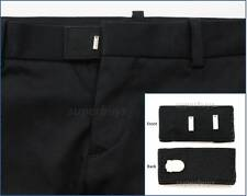 Black Hook & Bar Waist Extender Closure Pants Shorts Trouser Line Widen Expander