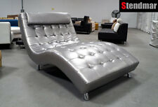 S003L DOUBLE SIZE MODERN FABRIC or LEATHERETTE LOUNGE CHAISE