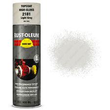 x6 Industriel Rust-Oleum Gris Clair Peinture En Aérosol Solide Chapeau 500ml RAL