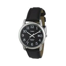 Timex T2N370 Men's Easy Reader Watch With Genuine Leather Black Strap - New