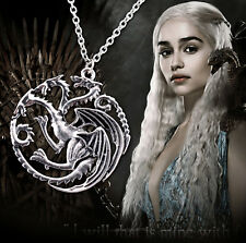 GAME OF THRONES SONG FIRE & ICE PENDANT TARGARYEN + GIFT POUCH DRAGON NECKLACE