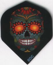 Orange Eyed Candy Skull Dart Flights: 3 per set