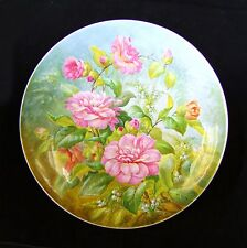 China Handpainted Wall Plaque/Plate - S. Pope. Circa 1890.