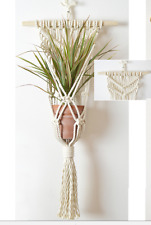 Beautiful Hand-Knotted Macrame Wall Plant Hanger 100% High Quality Cotton