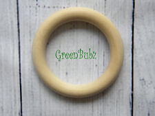 1 100% Organic Maple LARGE Wooden Baby Teething Ring Eco Gift Toy Vegan
