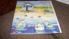 Tres barcos pequeña-By Claire Henley Milkwood tarjeta de Felicitación en Blanco todas las ocasiones