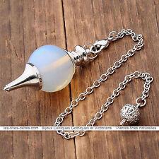 pendule divinatoire pour voyance en pierre synthétique opalite