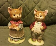 Vintage Otagiri Mr. & Mrs. Cat Salt n Pepper Shaker