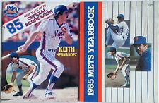 VINTAGE 1985 NEW YORK METS OFFICIAL SCOREBOOK AND YEARBOOK ~ KEITH HERNANDEZ