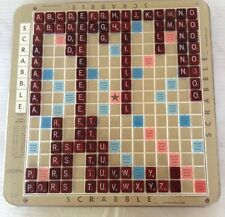 Vintage Scrabble Deluxe Edition With Turntable Base 1982 Crossword Board Game