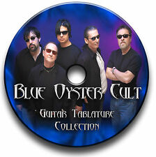 BLUE OYSTER CULT ROCK GUITAR TABS TABLATURE SONG BOOK ANTHOLOGY SOFTWARE CD