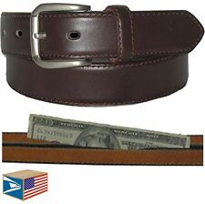 MONEY TRAVEL BELT Brown S Small SECRET HIDDEN ZIPPER POCKET SALE NEW! #E3505