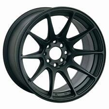 "18X9.75"" XXR 527 WHEELS 5X100/114.3 +20 FLAT BLACK RIMS FITS EVO 10 2008 -2013"