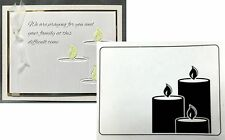 Darice Embossing Folders CANDLES LIT folder 1219-210 Holidays Religious Sympathy