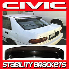 92-95 Honda Civic 4 Door Rear Visor Roof Spoiler Shade with Stability Brackets