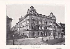 Mannheim Hauptpost - um 1910 oder älter - Souvenierblatt Sammelbild - SELTEN