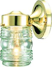 Hardware House 54-4361 1-LT Jelly Jar Wall Light Outdoor Fixture Polished Brass