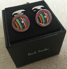 PAUL SMITH SIGNATURE MULTI STRIPE ROLLING BALL CUFFLINKS BNIB