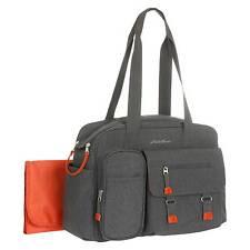Eddie Bauer Flannel Diaper Bag Grey/Orange