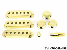 *NEW Gold ACCESSORY KIT Pickup Covers Knobs Tips for Fender Stratocaster Strat