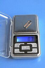 Mini Digital Waage Feinwaage Gold Schmuck Briefe Pulver Taschenwaage (500g/0.1g)
