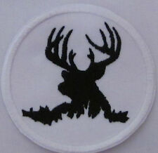 Elk Stag Hunting Canadian Deer Iron on Patch FREE NORTH AMERICA shipping