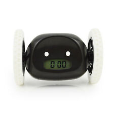 Kids Boy Girl Toy Gift Creative Running Digital Robot Loud Alarm Clock Black