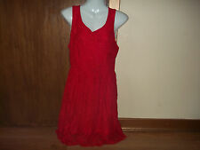 womans short red laced sleeveless dress from grafic size s/m in v good condition