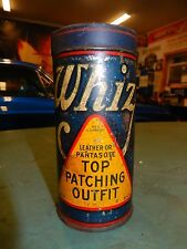 VTG 1920 WHIZ ORIGINAL AUTO TIRE REPAIR TIN GAS OIL SERVICE STATION GARAGE NICE