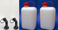 Motorcycle 2 x FuelFriend JERRY CAN 2L + 2 x angled spout, Germany