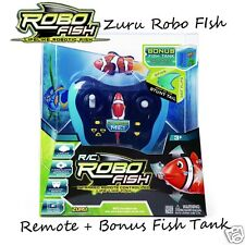 Zuru Robo Fish + Remote Control + Tank✓ Water Activated✓ Life-Like✓ Robofish✓