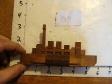 vintage Japanese Kumiki  puzzle: #29 complex boat VERY EARLY VERSION, W LOGO 30s