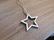 East Of India: Little Outline Star Christmas Decoration: Neutral