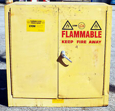 1 USED LYON 5467 22 GALLON FLAMMABLE LIQUID STORAGE CABINET ***MAKE OFFER**