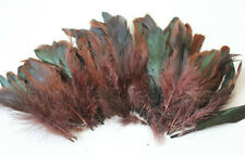 "20g of 4-6"" half bronze brown schlappen coque rooster feathers, about 200pcs"