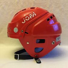 Vintage Swedish Jofa Red Ice Hockey Helmet Hurling Size 50-57