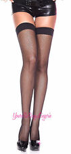 Plus Size SPANDEX FISHNET Thigh Highs OVER-THE-KNEE School Girl Stockings RAVE