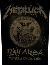 METALLICA - Bay Area Thrash Since 1981 Rückenaufnäher Backpatch