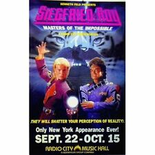 """Original Siegfried & Roy Poster 'Masters of the Impossible' Ex. Cond. 24"""" by 39"""""""