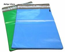 50 BLUE & GREEN POLY SHIPPING BAGS 6 x 9 PLASTIC MAILER ENVELOPE MAILING BAGS