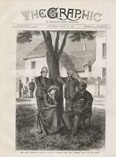 1882 THE ZULU DIFFICULTY INTERVIEW CETEWAYO &  LADY FLORENCE DIXIE AT OUDE MOLEN