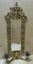 Antique Victorian Bradley & Hubbard Dauphin Mirror Candlesticks cast iron brass