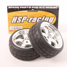 Lot 4 pcs RC Flat Drift Tires Wheel Rim Fit HSP HPI 1:10 On-Road Car 9002-9015