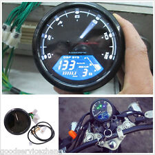 12000RPM LCD Digital Odometer Motorcycle Speedometer Tachometer 1-4 Cylinders